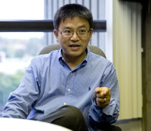 Shengkan Jin, associate professor in the Department of Pharmacology, is a part of Robert Wood Johnson Medical School's recent discovery of a medicine to treat Type 2 Diabetes. (Photo by Yangeng Li)
