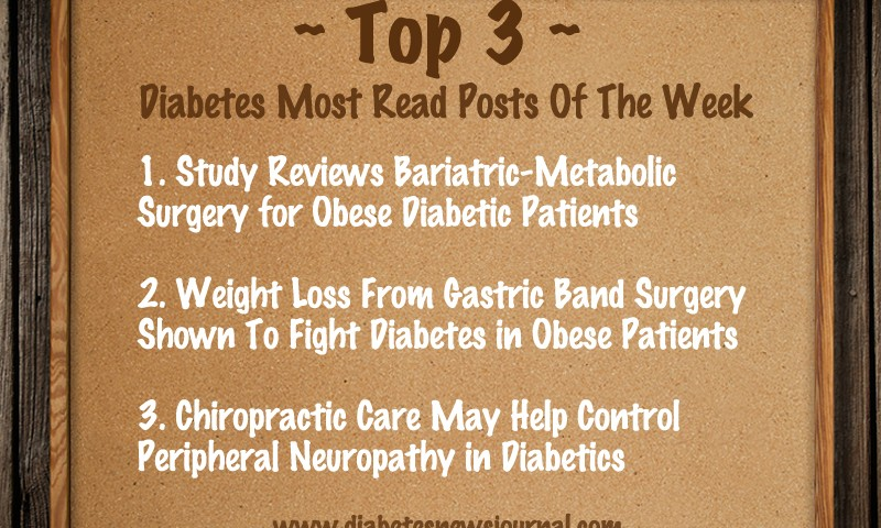 Last Week's Top-3 Most Read Posts On Diabetes