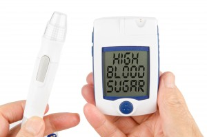 Glucose monitor diabetes treatment using human liver cells